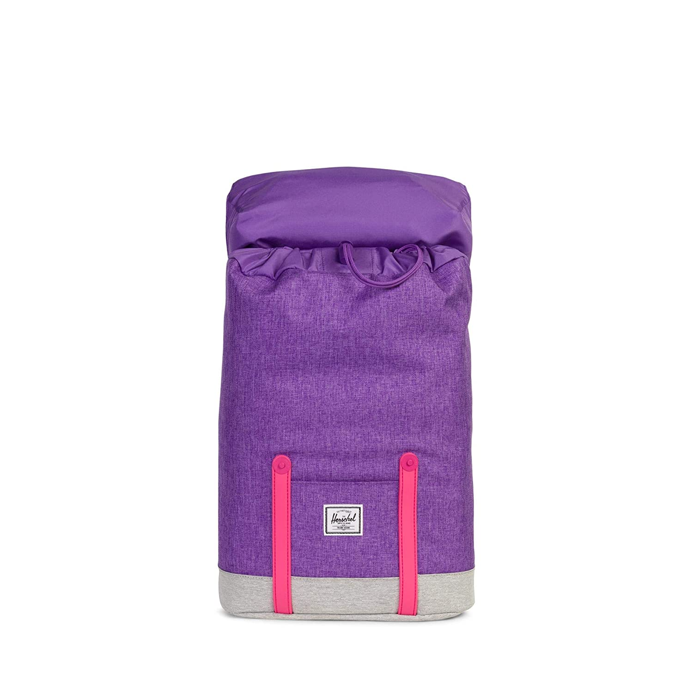 Amazon.com | Herschel Kids Retreat Youth Backpack, Deep Lavendar Light Grey Crosshatch/Fandango Pink One Size | Kids Backpacks