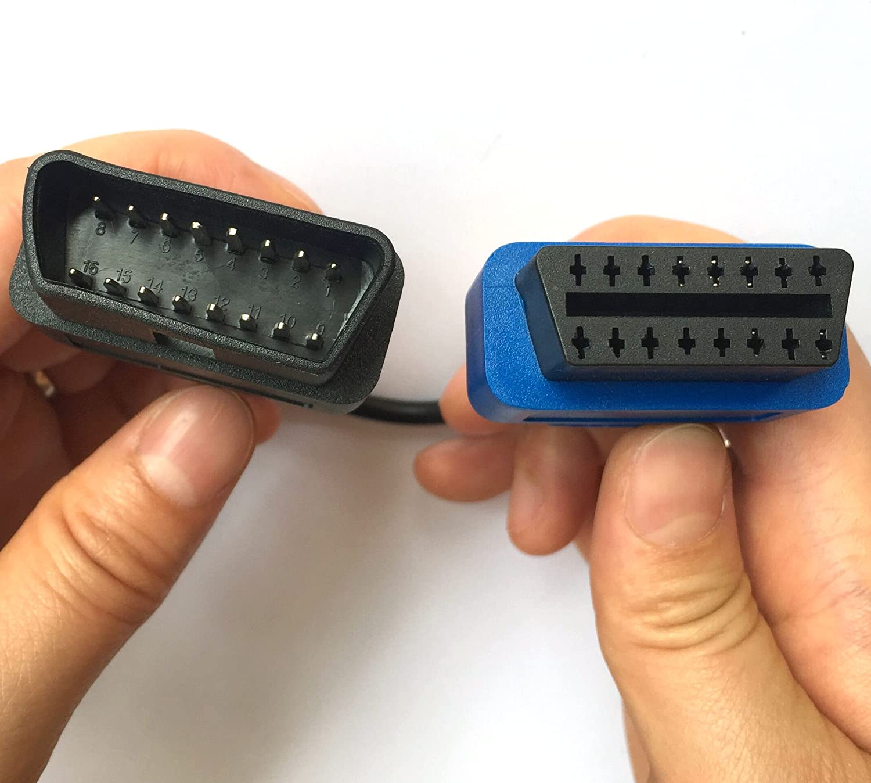 Hanraintool Multiecuscan A1 A2 A3 A4 A5 A6 Obd 3 Pin Adaptor Cable M Blue Auto