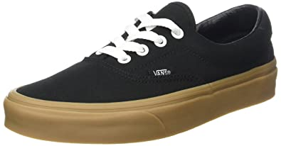 47b9c41eb4 Vans Unisex Adults  Era 59 Canvas Gum Trainers  Amazon.co.uk  Shoes ...