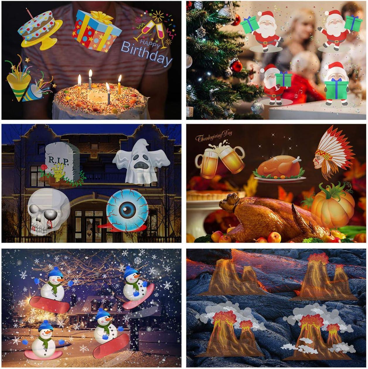 Proyección luces de Navidad 10 patrón luz proyector con mando a ...