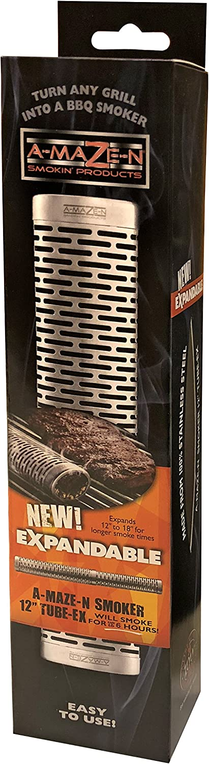 A-MAZE-N OET-0002 Oval Expanding Pellet Tube Smoker, 12-18 Inch