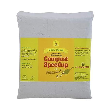 Daily Dump Compost Speedup Microbes Powder (1 Kg, White)