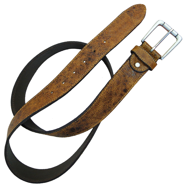 BARONE di MALTZAHN - Cintura da uomo GIOVE 90 cm in cuoio marrone L329-90mvm