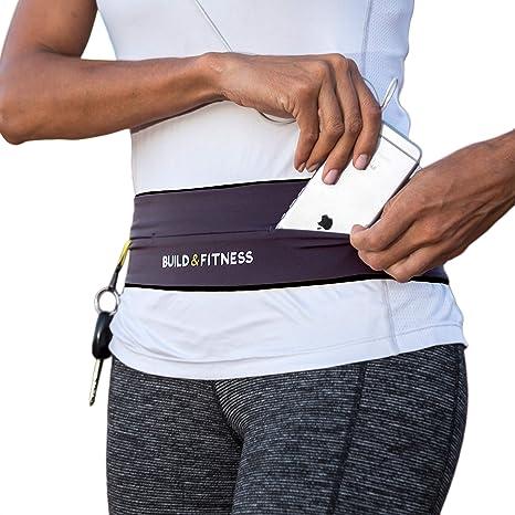 pour Jogging Yoga Voyage et Les activit/és de Plein air L ,Belt Fitness,Flip Belt Running,Convient aux t/él/éphones cellulaires de Toutes Tailles T-health Ceinture de Course Femme et Homme,Running Belt
