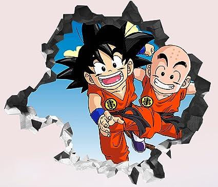 Amazoncom Dragon Ball Super Goku Kuririn Wall Decal