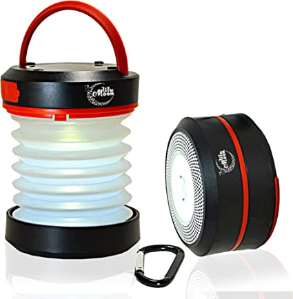 via Solar or USB ENKEEO Camping Lantern Collapsible LED Light Flashlight with Rechargeable Battery Portable for Outdoor Hiking Backpacking Tent Emergencies
