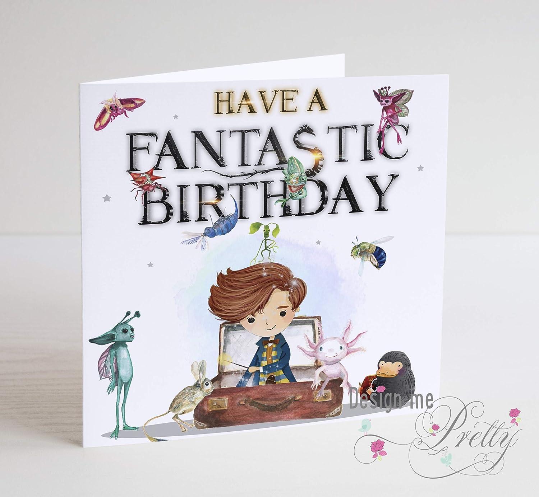 Fantastic Beasts Birthday Card