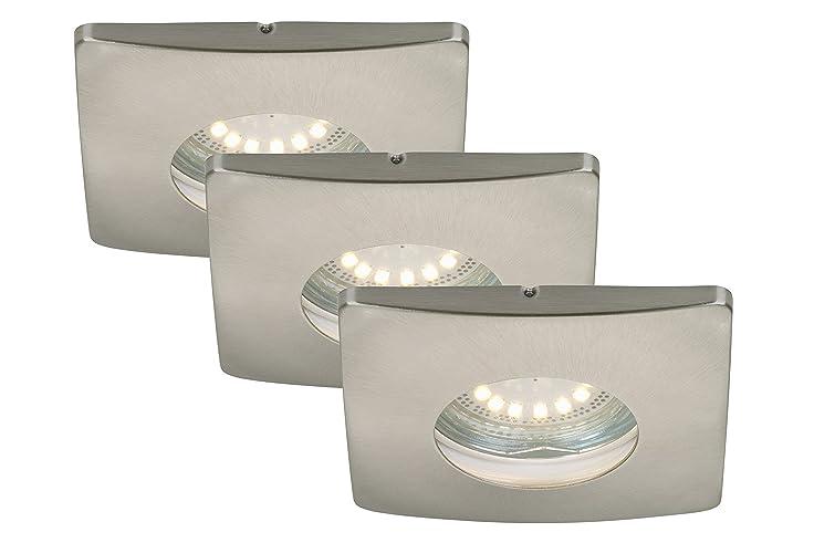 LED Einbauleuchten 3-er Set, Einbaustrahler, Einbauspots, LED GU10 ...