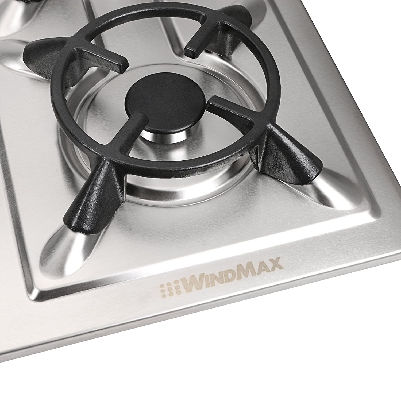 Amazon.com: Windmax 33.86 inch Acero Inoxidable 5 quemador ...
