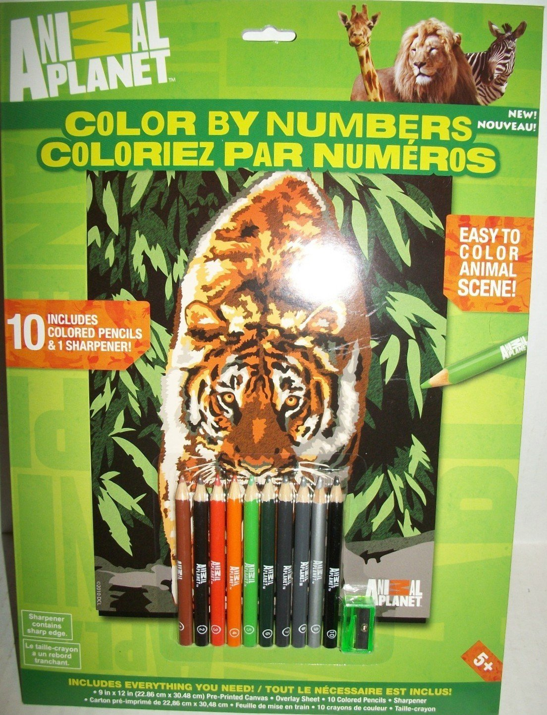 Amazon.com: Animal Planet Color By Numbers: Toys & Games