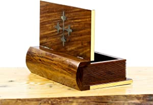 Nagina International Book Shaped Wooden Box | Home Decor