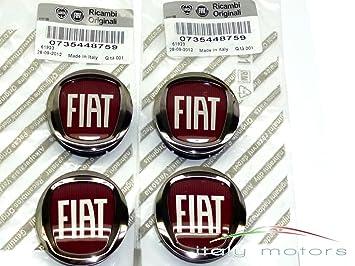 Original Fiat Grande Punto Llanta Tapa Buje tapas - Lote de 4 tapacubos - 735448759: Amazon.es: Coche y moto