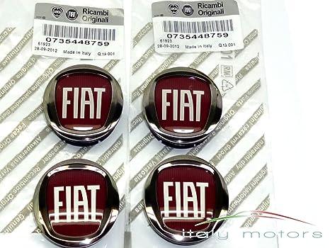 Original Fiat Grande Punto Llanta Tapa Buje tapas – Lote de 4 tapacubos – 735448759