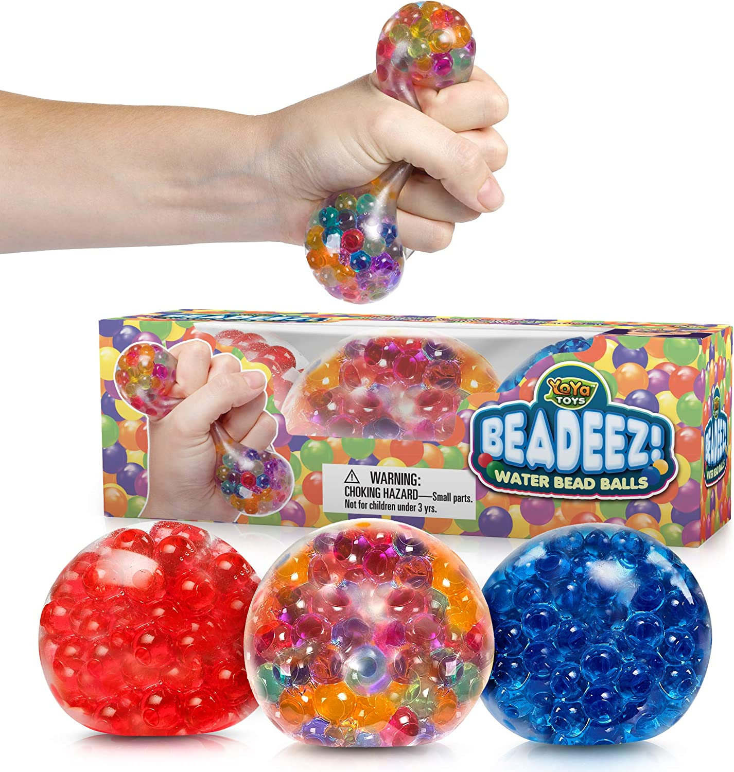 Soft Fidget Stretchy Toy Set for Calming Stress Balls Anxiety Relief Squeeze Balls Toy for Kids and Adults Stress Relief 12 Pack Sensory Squishy Balls with Water Beads