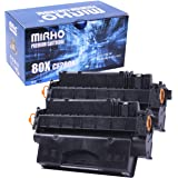 MIRHO Compatible Toner Cartridge Replacement for HP 80X CF280X CF-280X CF 280X 80A CF280A CF-280A CF 280A, Toner Cartridge fo