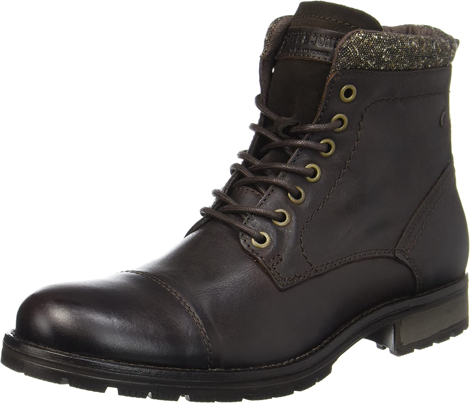 Jack & Jones Jfwmarly Leather Bison, Botas Clasicas para Hombre