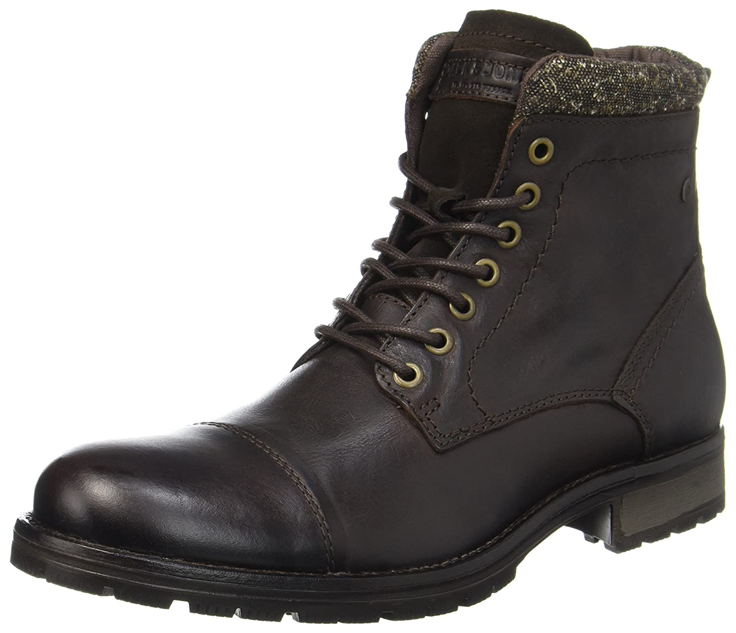 TALLA 44 EU. Jack & Jones Jfwmarly Leather Bison, Botas Clasicas para Hombre