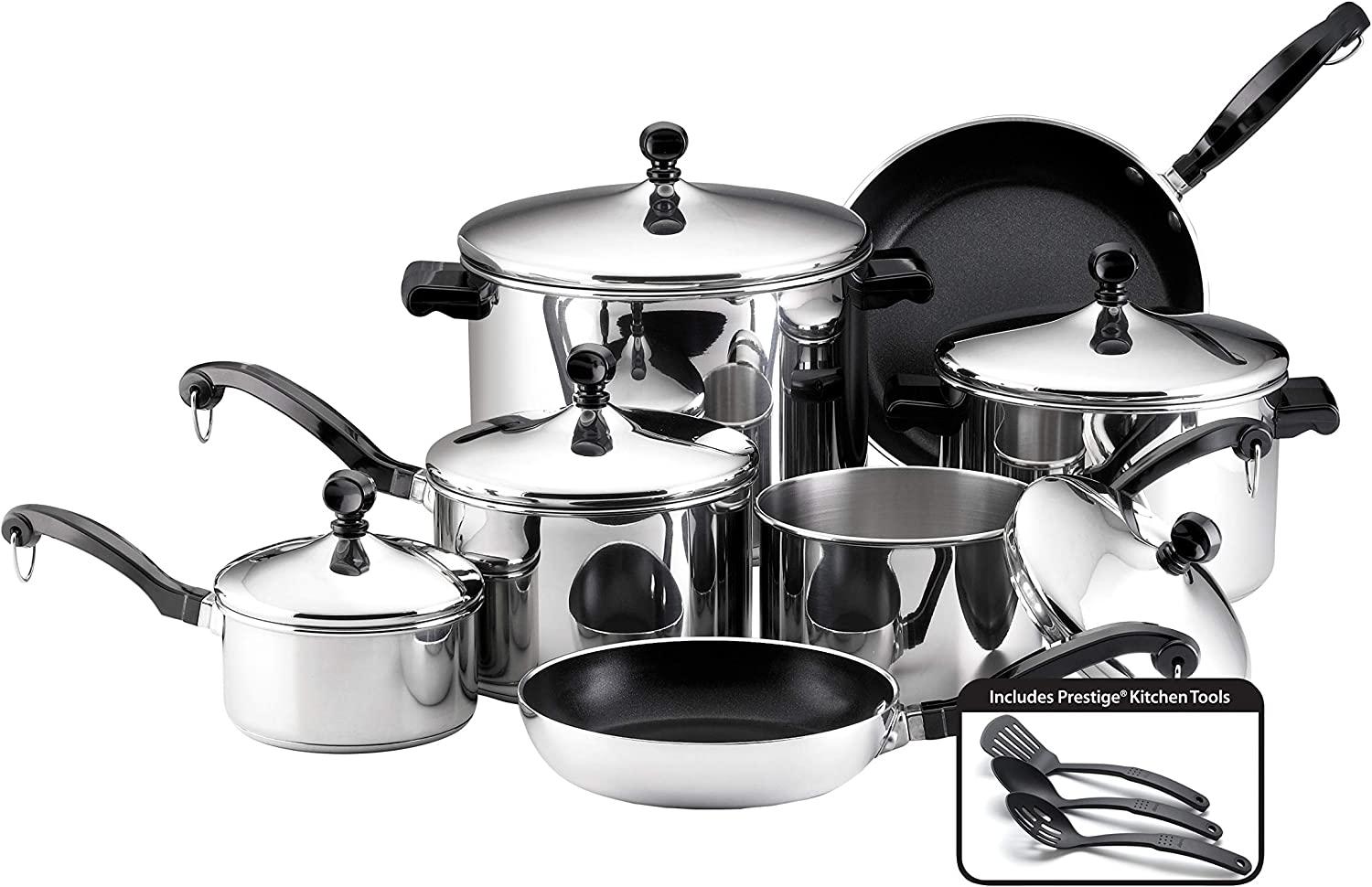 Farberware Classic 15-piece Stainless Steel Cookware Set