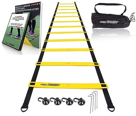 PRO IDENTITY Koordinationsleiter 6m für Fussball Training inkl