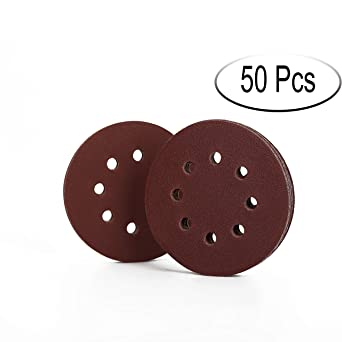 600 grain sandpaper for 10 pieces orbital sander 5 inch and 8 hole sanding discs