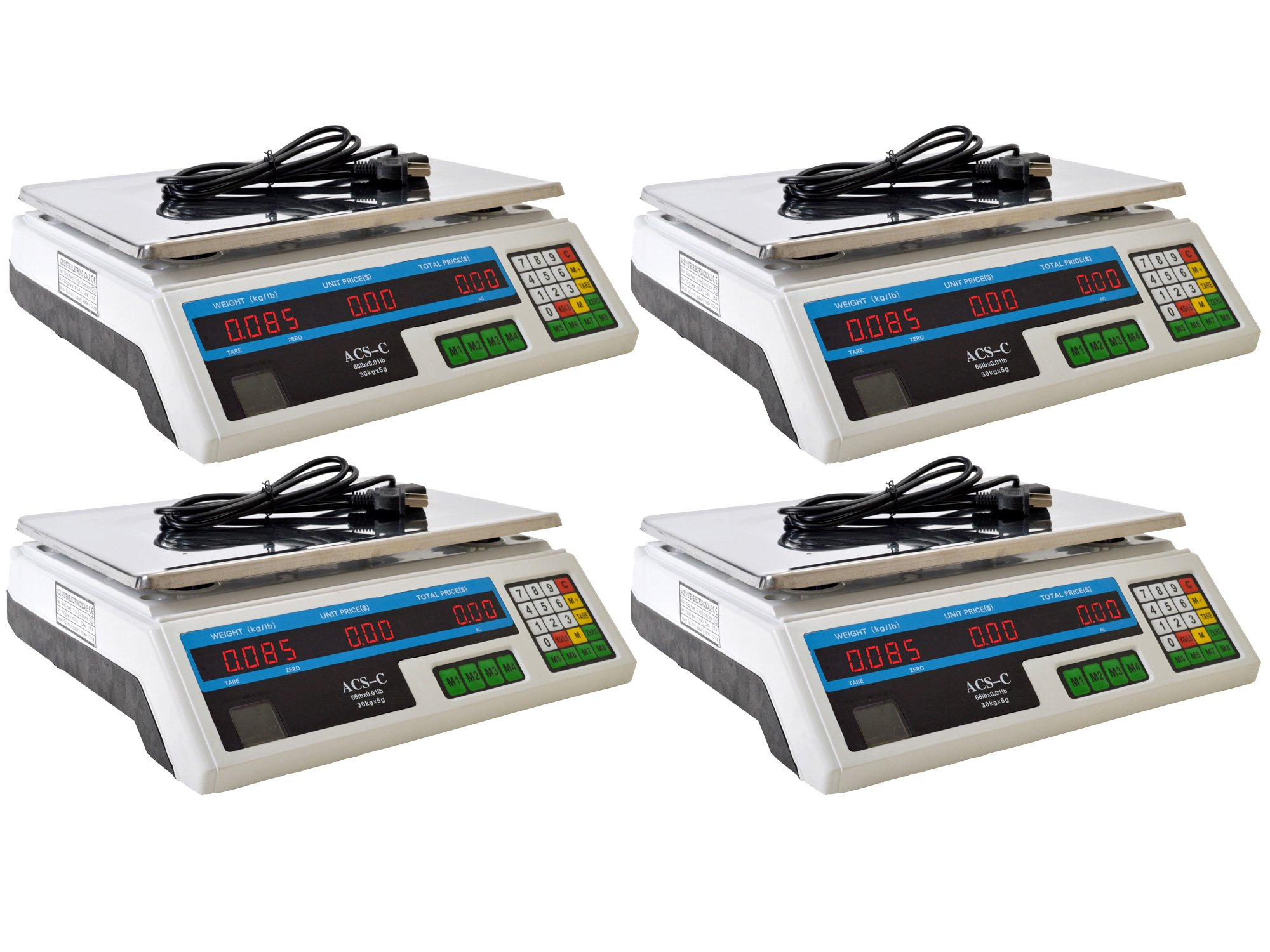 TMS Lot 4 Electronic Digital Computing Price Weight Scale