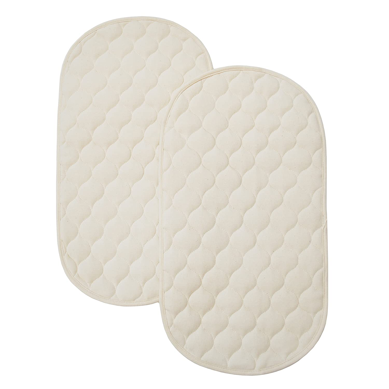 American Baby Company Natural Waterproof Quilted Playard 2 Pack Changing Table Pads Made with Organic Cotton 82769-NA