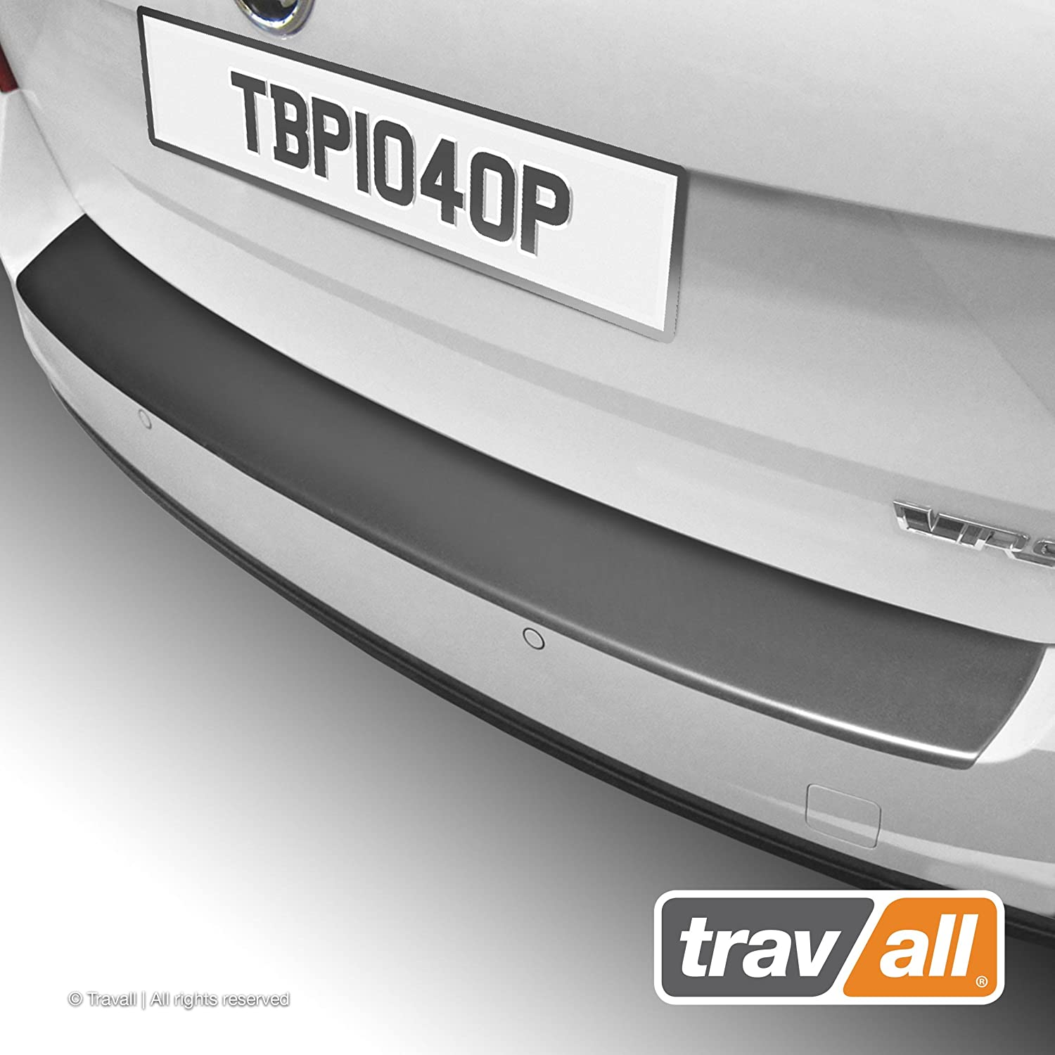 Travall Protector TBP1040P - Vehicle-Specific Black Plastic Moulded Rear Bumper Protector [Smooth]