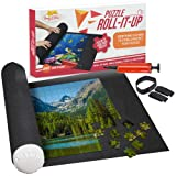 """Puzzle Roll Up Mat - Store and Transport Jigsaw Puzzles Up to 1500 Pieces - 46"""" x 26"""" Felt Mat, Inflatable Tube, and 3 Elastic Fasteners - Plus Bonus Pump - by Nessies's Playground"""