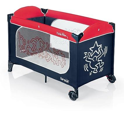 Materassino Per Lettino Da Campeggio Brevi.Brevi 811kh Plus Keith Haring 327 Lettino Da Viaggio Dolce Nanna Blu