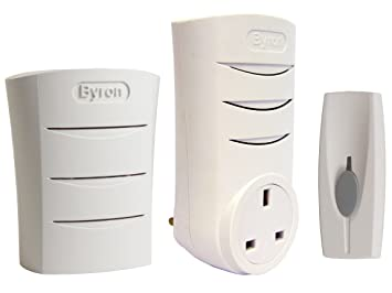 Byron Sentry BY323 60m Wireless Portable and Plug-Through Door Chime Kit with 4 Sounds  sc 1 st  Amazon.com & Byron Sentry BY323 60m Wireless Portable and Plug-Through Door Chime ...