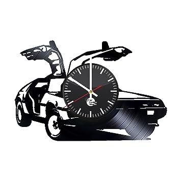 Máquina del Tiempo regreso al futuro ciencia ficción aventura Comedia hecho a mano reloj de pared de disco de vinilo divertido regalo Vintage única ...