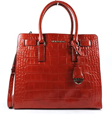 d604d5b8b7a2 Michael Kors Dillon Large Embossed-leather Tote RED: Handbags: Amazon.com
