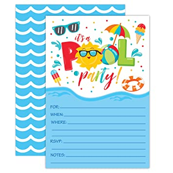 amazon co jp boy pool party birthday invitations summer pool