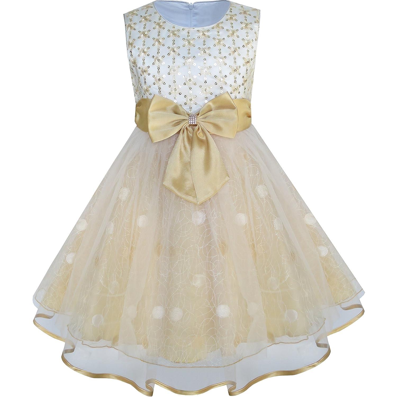 Sunboree Mädchen Kleid Champagner Multi-schichten Hochzeit Festzug ...