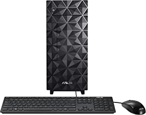 ASUS Desktop S300, Intel Core i5-10400 Processor, 16GB DDR4 RAM, 512GB PCIe SSD, DVD Drive, TPM, Windows 10 Home, Wired Keyboard & Mouse Included, Black, S300MA-DH501