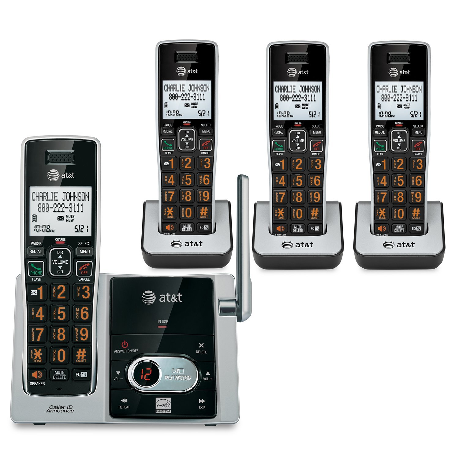 AT&T CL82413 Cordless Answering System with Caller ID/Call Waiting (4-handset system)