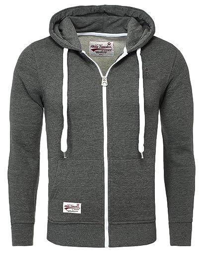 Akito Tanaka Herren Sweatjacke Jacke Weste Zip Pullover Hoodies Sweatshirt mit Kapuze