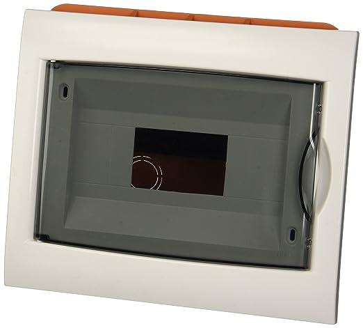 2 opinioni per Electraline 60440 Centralino da Incasso, 8 Moduli,Bianco/Arancione