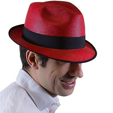 Tumi Panama Hats - Cappello Panama - Donna rosso rosso  Amazon.it ... 7e1811c5597f
