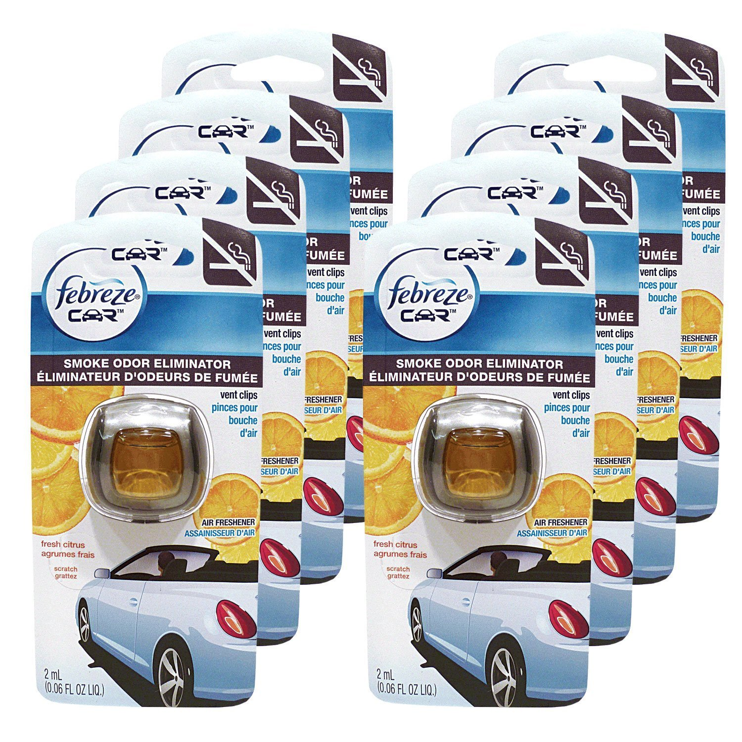 Febreze Car Vent Clips Air Freshener Odor Eliminator New: Amazon.com: Febreze Air Freshener, Car Vent Clip Air
