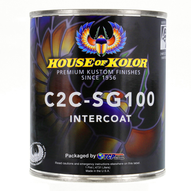 House of Kolor SG100 Intercoat Klear Midcoat Clearcoat Low VOC, Pint SG100