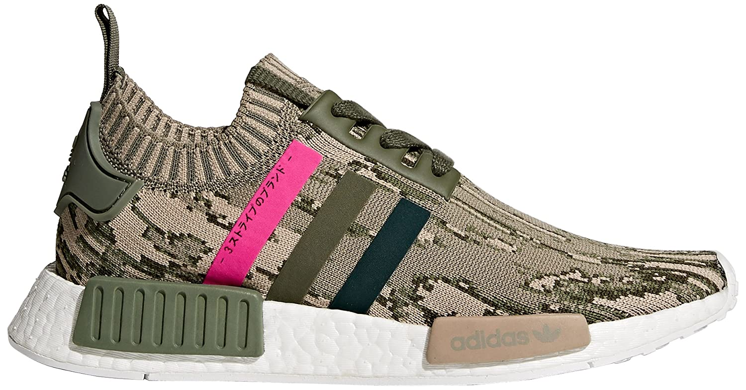 adidas Originals Women's NMD_r1 W Pk Sneaker B076XSB8PB 8 B(M) US|St Major/Green Night/Shock Pink