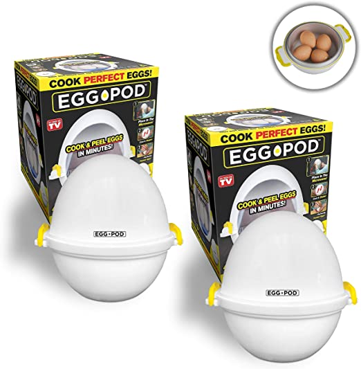 Egg Pod Microwave Egg Cooker that Perfectly Cooks Eggs and Detaches the Shell!