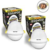 EGGPOD 7076 by Emson Wireless Microwave Egg Maker, Cooker, Boiler & Steamer, 4 Perfectly-cooked Hard boiled Eggs in under 9 m