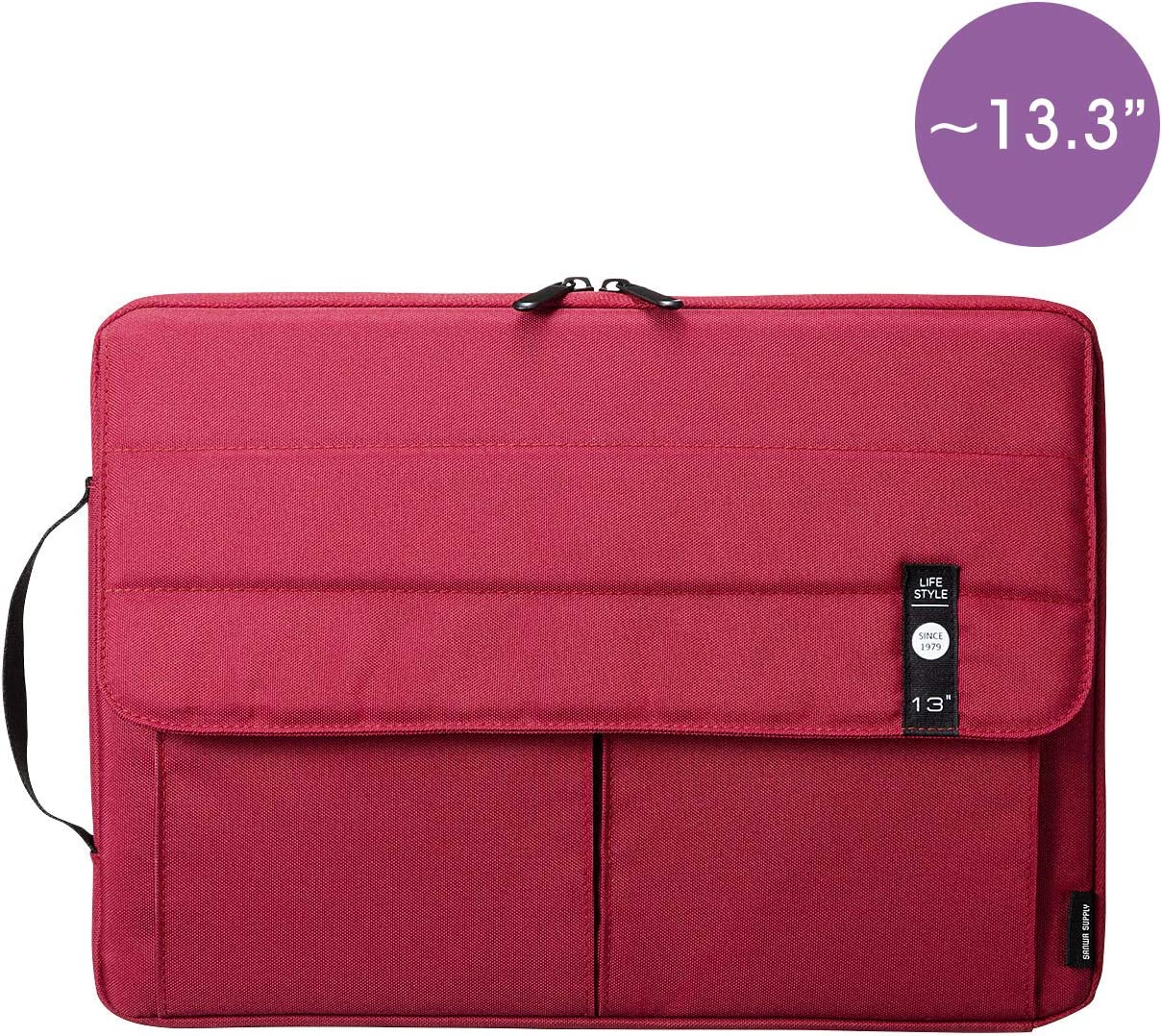 SANWA (Japan Brand) Laptop Computer Sleeve Case, Sleeve Bag Compatible with 11 inch MacBook Pro, MacBook Air, Pad,HP, Dell, Notebook Computer, Water Resistance Case Cover with Pocket, Red
