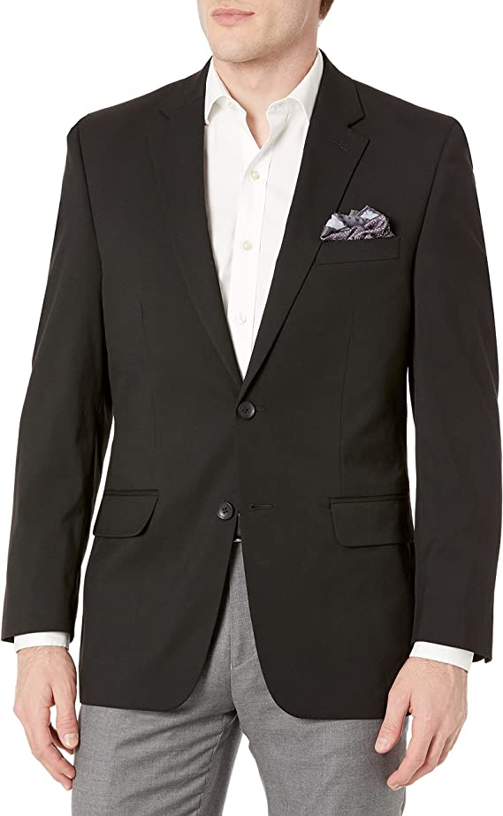 Chocolate Blazer J.M Haggar Mens Sharkskin Premium Classic-Fit Stretch Suit Separate Coat 50R