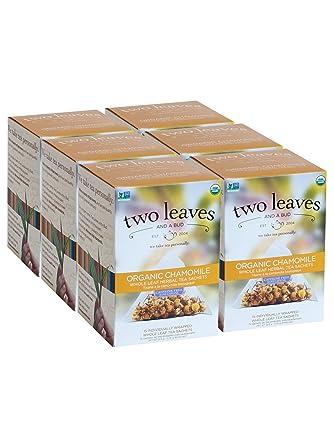 Bolsas de té de dos hojas y un bud orgánicas de chamomila ...