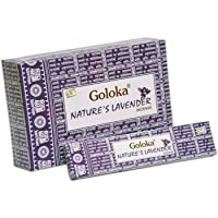 Goloka Nature's Lavender Incense incienso de lavanda (pack