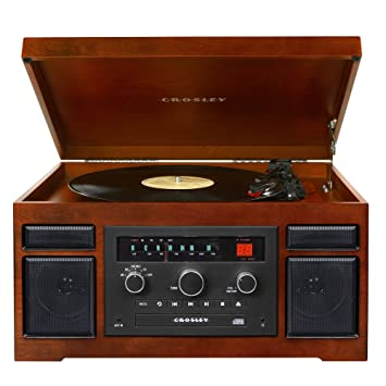 Wonderful Crosley CR7007A MA Patriarch Turntable With Radio, CD Player And Aux In (