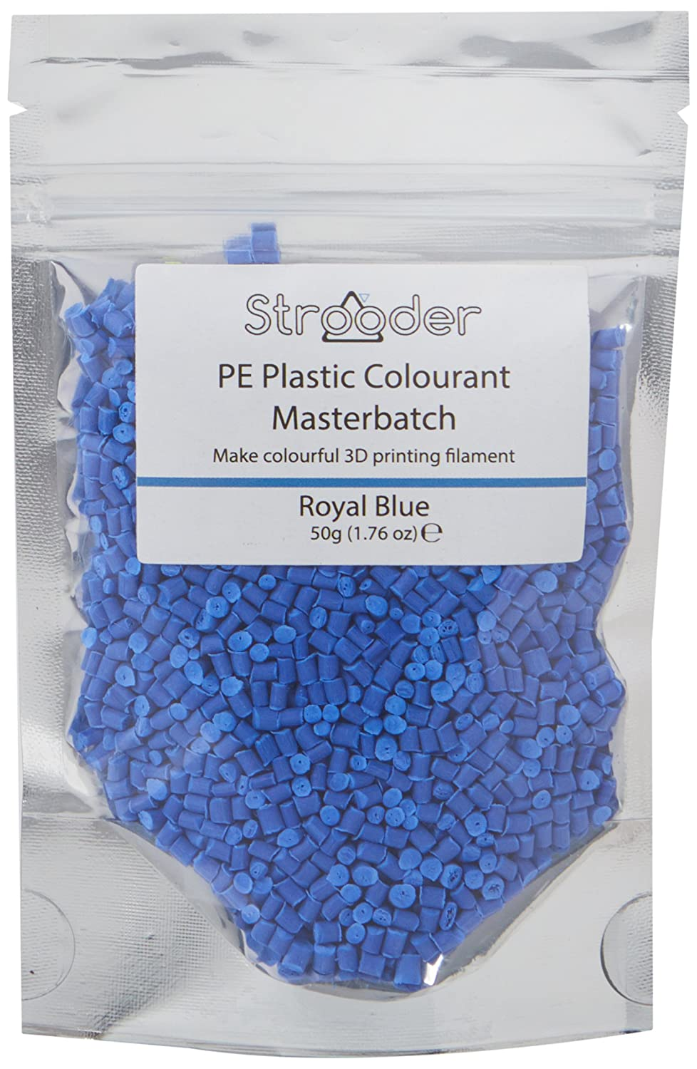 Strooder PE-MBRB Master batch colorant for PE, 50 g, Royal Blue Omnidynamics